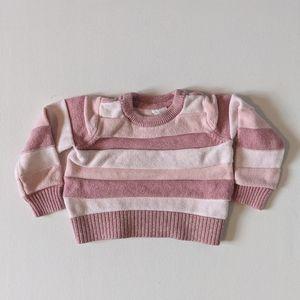 Baby Gap Pink Striped Sweater * 18-24M